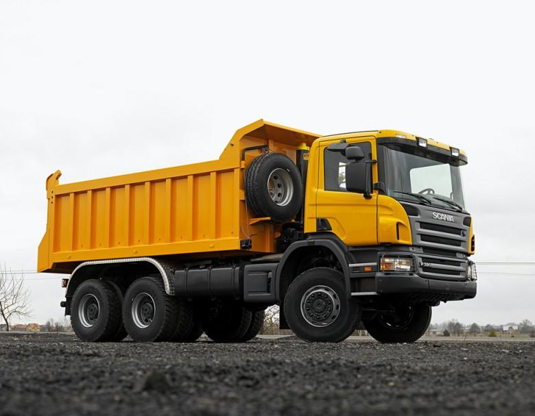 Font Right Yellow 2009 Scania P380 Truck Picture