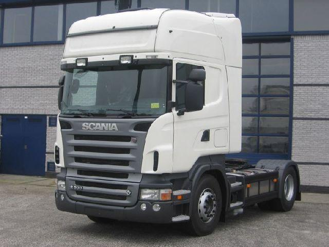Front left white 2006 Scania R500 Truck Picture