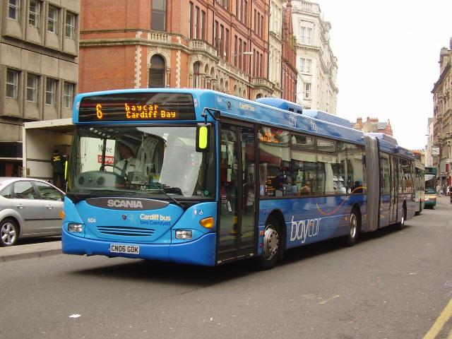 Scania 604 Cardiff Bus Picture