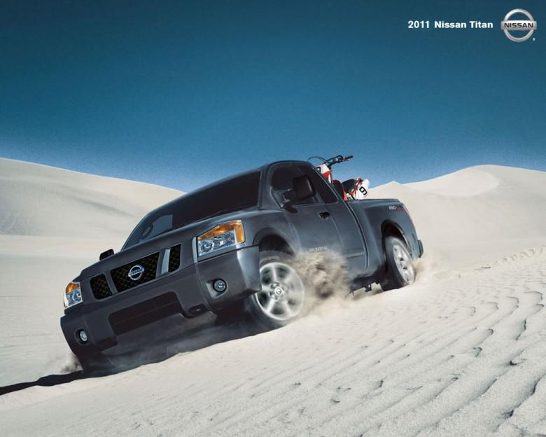 Front Left Gray 2011 Nissan Titan Truck Picture
