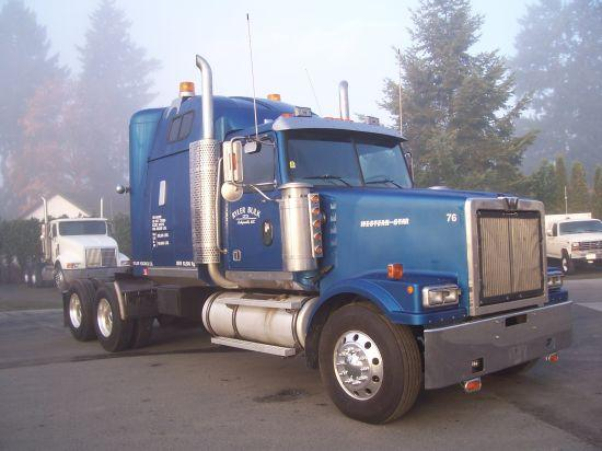 Front right blue 2000 Western Star 4964EX Truck Picture